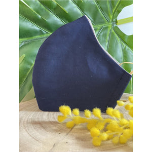 Navy Blue Face Mask  reusable cotton washable Triple Layer