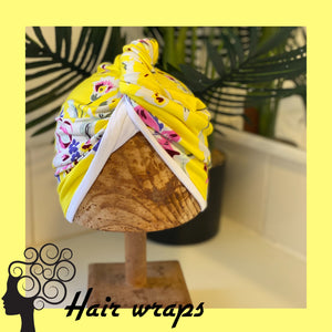 T shirt fabric Curly hair wrap