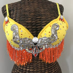 Yellow and Orange Festival and Rave Bra