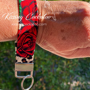 Leopard and Rose Key Fob/Ring