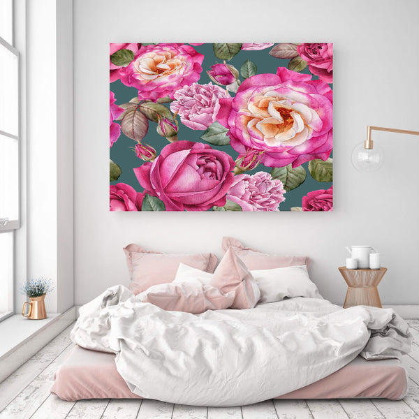 Pink Rose wall covering
