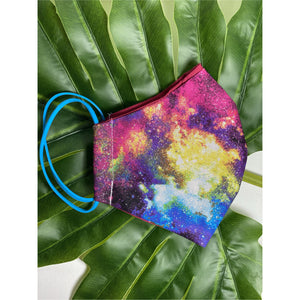 Rainbow glitter Face Mask  reusable cotton washable