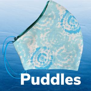 Puddles Face Mask  reusable cotton washable