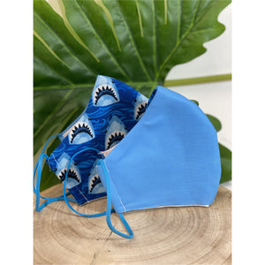 Cronulla Sharks theme Face Mask  reusable cotton washable,Triple layer