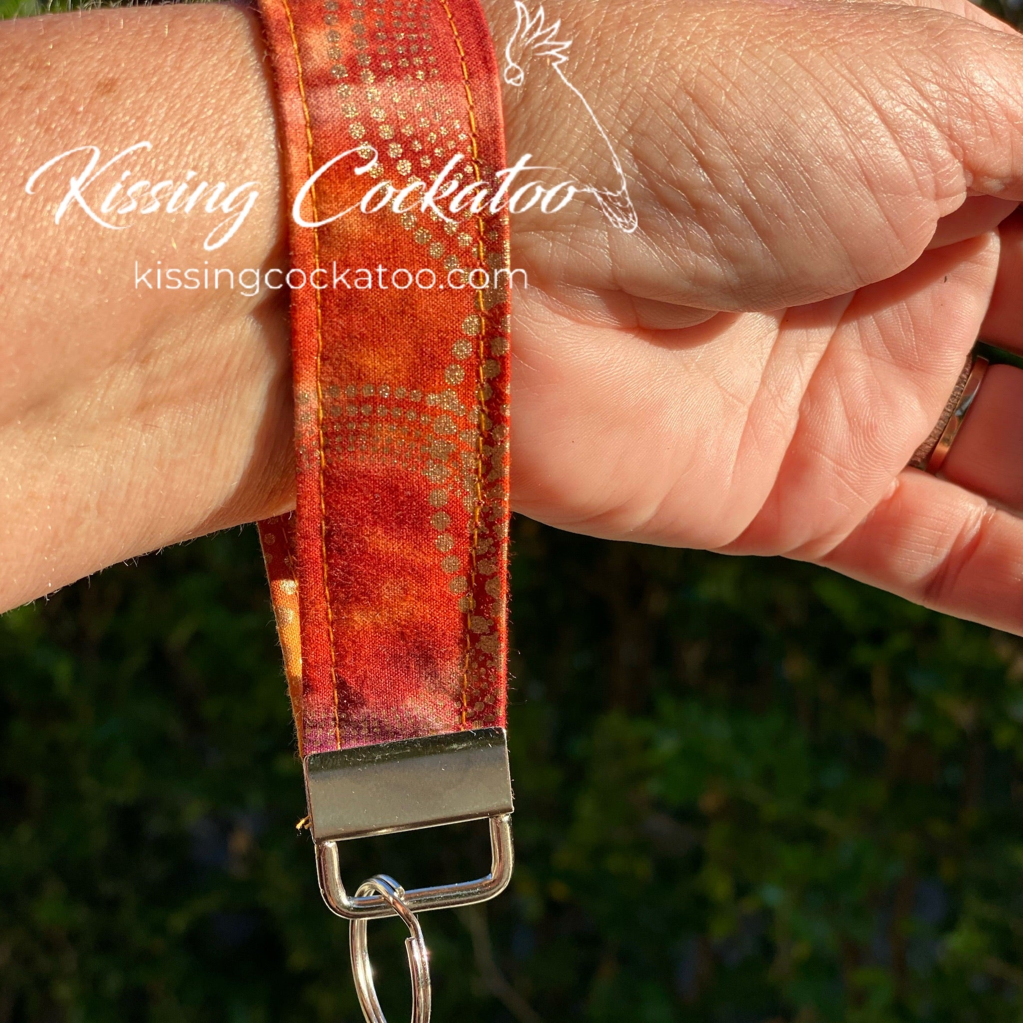 Orange and Gold Key Fob/Ring
