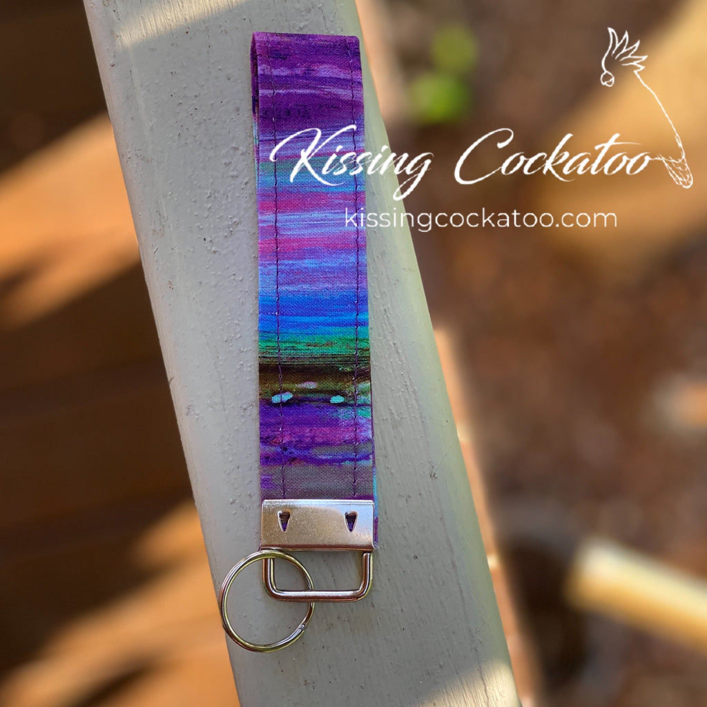 Purple and Blue Key Fob/Ring