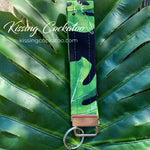 Tropical Leaves Key Fob/Ring