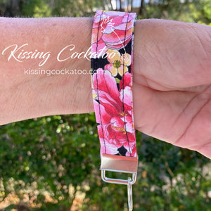 Pink Rose Key Fob/Ring