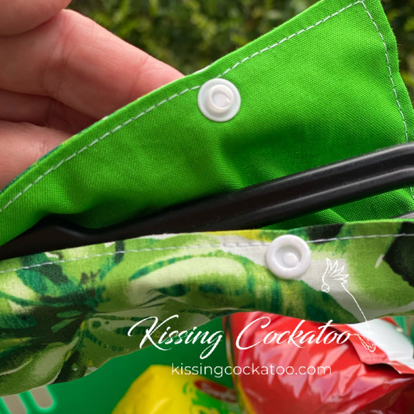 Shopping Basket Handle Cover tropical Leaves