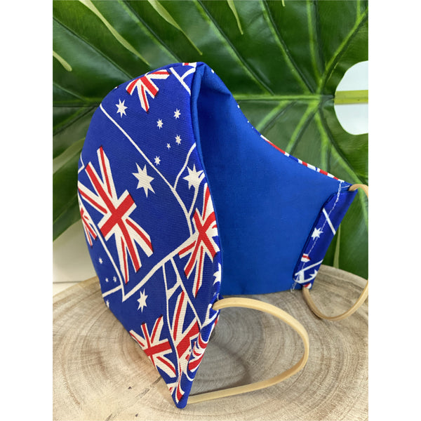 Australian Flag Face Mask  reusable cotton washable,Triple layer