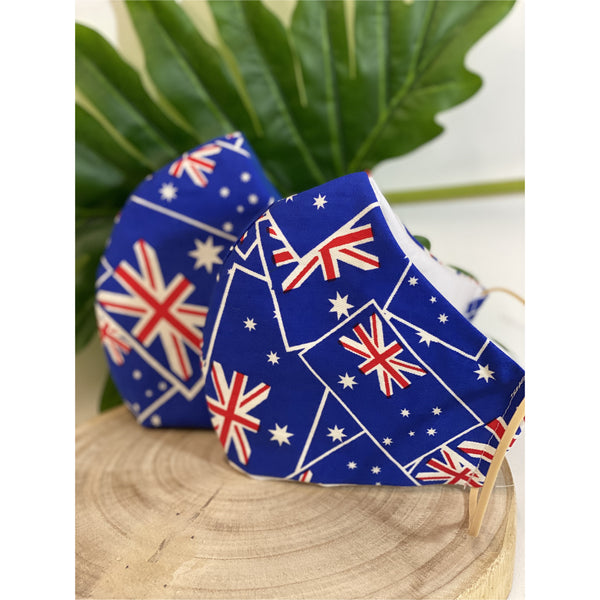 Australian Flag Face Mask - Australian Flag Washable Face Mask