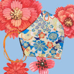 Pretty China floral Face Mask  reusable cotton washable