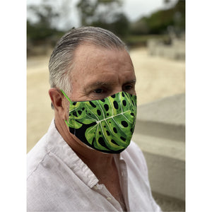 Large leaf Face Mask  reusable cotton washable
