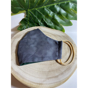 Ink grey Face Mask  reusable cotton washable
