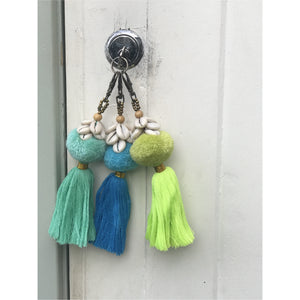 Pom Pom and shell delight key charm
