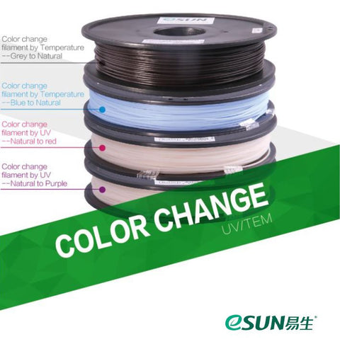 eSUN Colour Changing by Temp 3D Printer Filament 0 5kg - 1 75mm