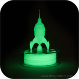 luminous green pla 3d print
