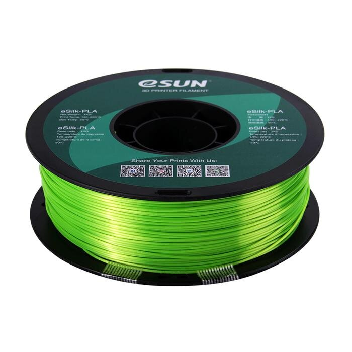 eSUN e-Silk PLA 3D Printer Filament 1kg - 1.75mm