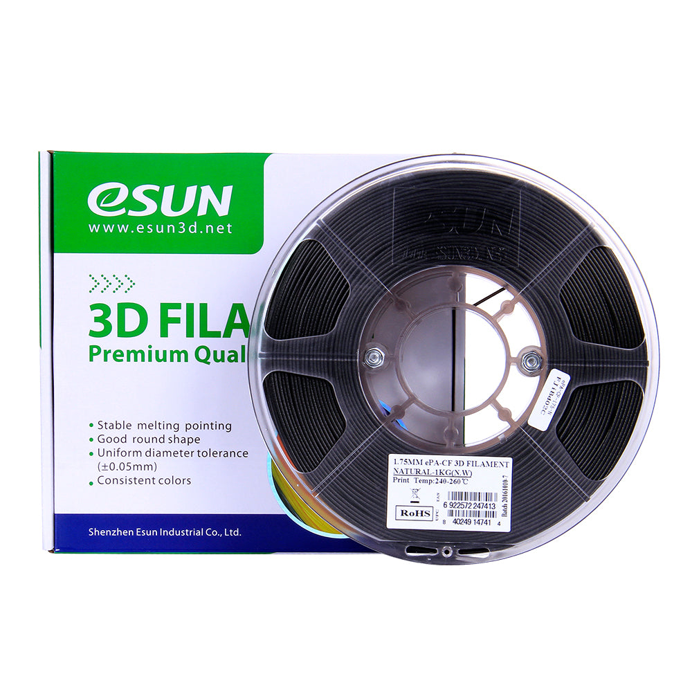 eSUN Carbon Fibre Nylon ePA-CF 3D Printer Filament - 1.75mm