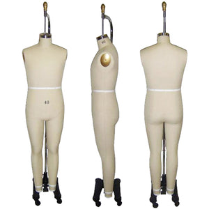Male Full Body Professional Dress Form, sewing mannequin, seamstress mannequin
