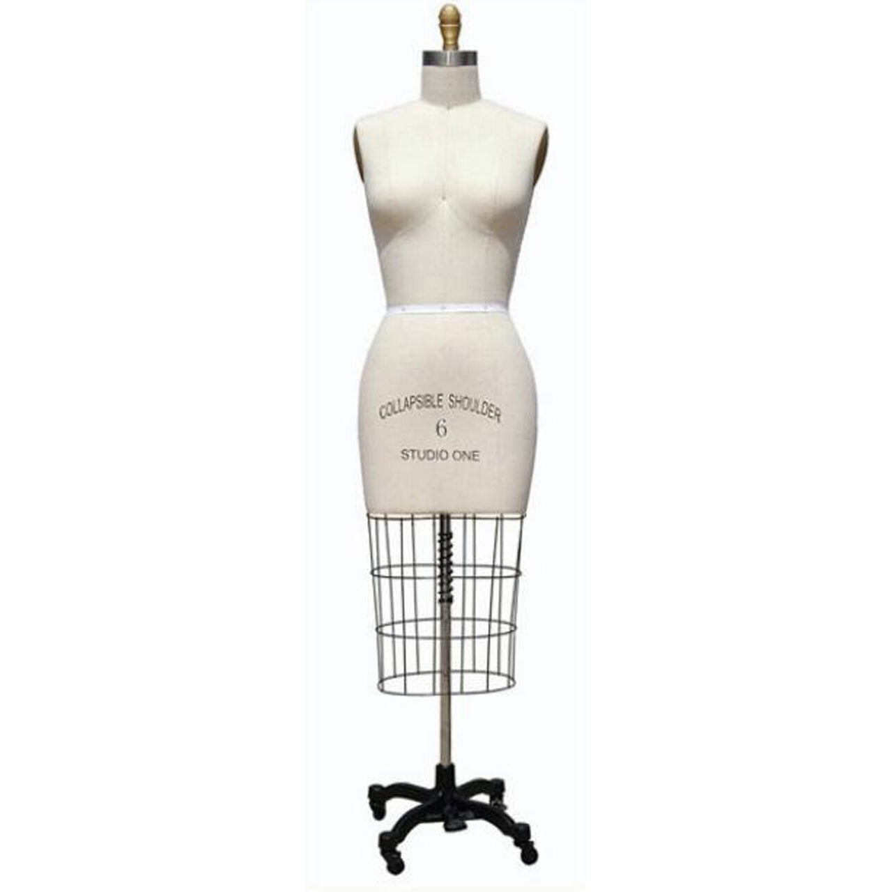 Female Professional Dress Form with Collapsible Shoulders, close up photo of the female professional dress form with collapsible shoulders, sewing mannequin, seamstress mannequin, half body female professional dress form