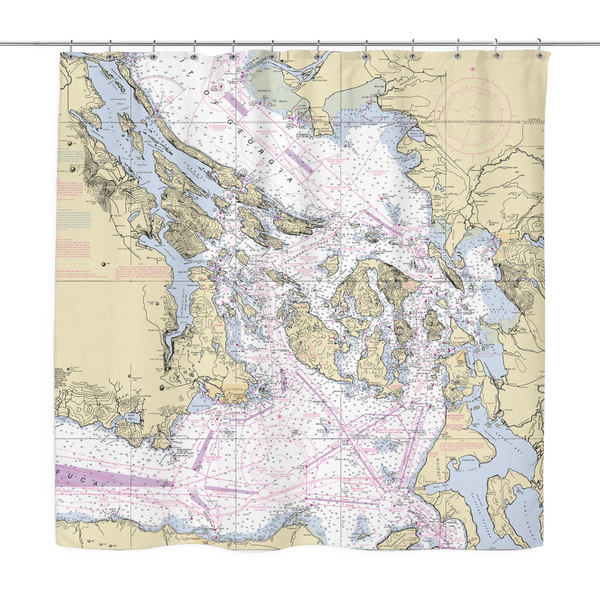 San Juan/Gulf Islands Shower Curtain