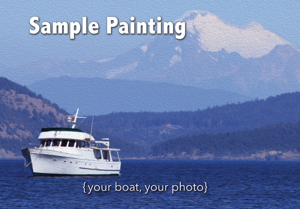 Your Boat as 16x20 Oil DigiPainting