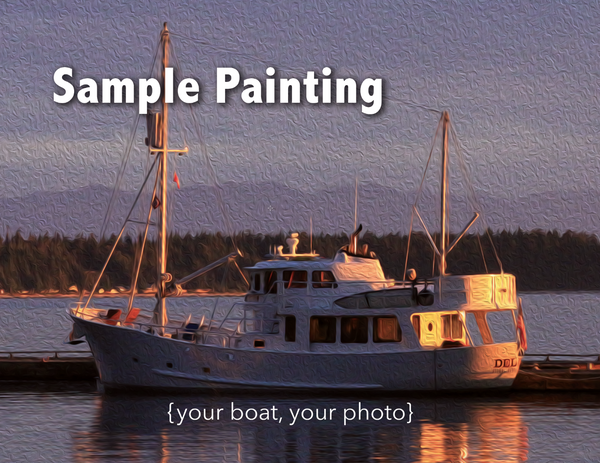 Your Boat as 8x10 Oil DigiPainting