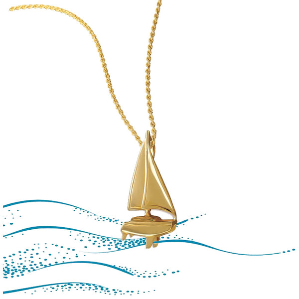 Catamaran Pendant and Chain