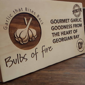 Custom work for Bulbs of Fire - Garlic Farm