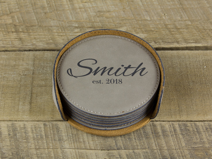 Last Name Coasters - Smith Design