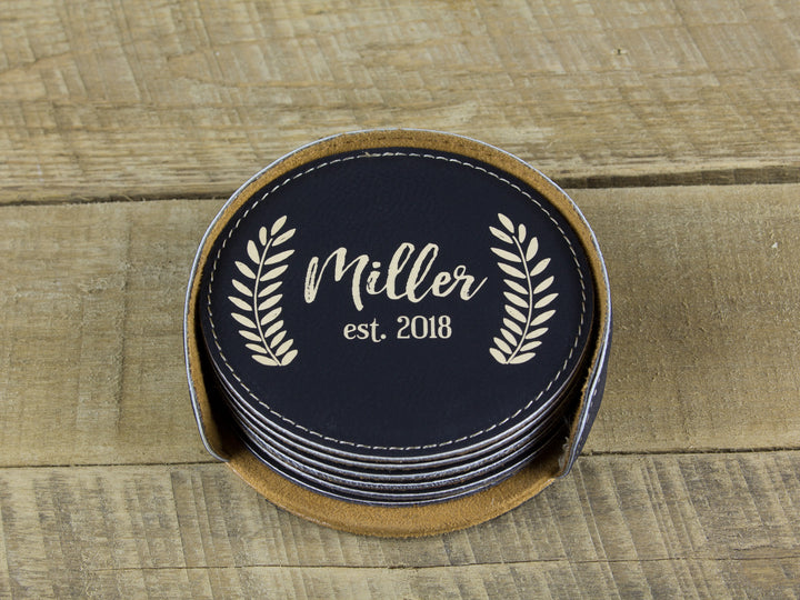 Last Name Coasters - Miller Design