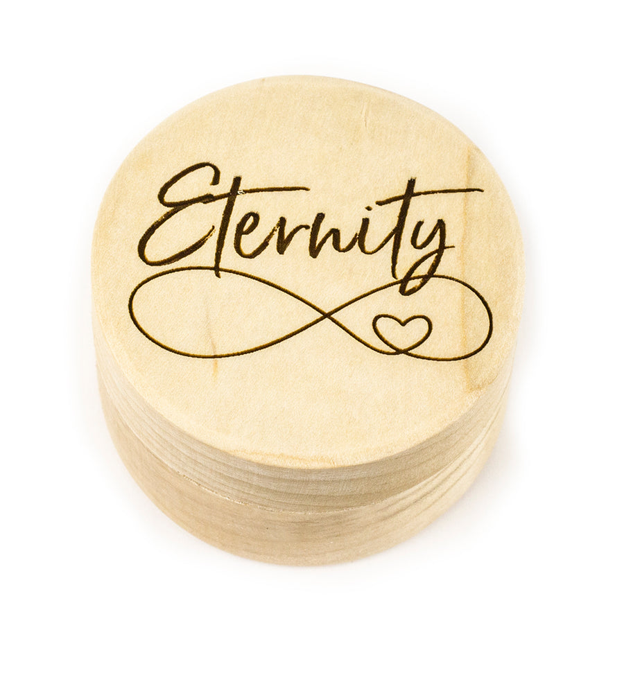 Wood Ring Box - Eternity Design