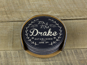 Leather Coasters - Drake Design