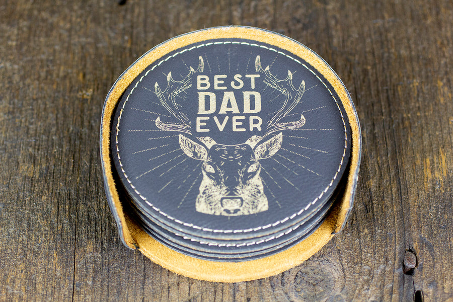 Custom Bar Coasters - Best Dad Ever