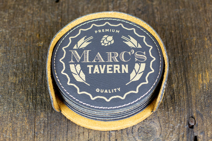 Custom Bar Coasters - Tavern Design