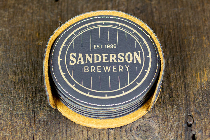 Custom Bar Coasters - Sanderson Design