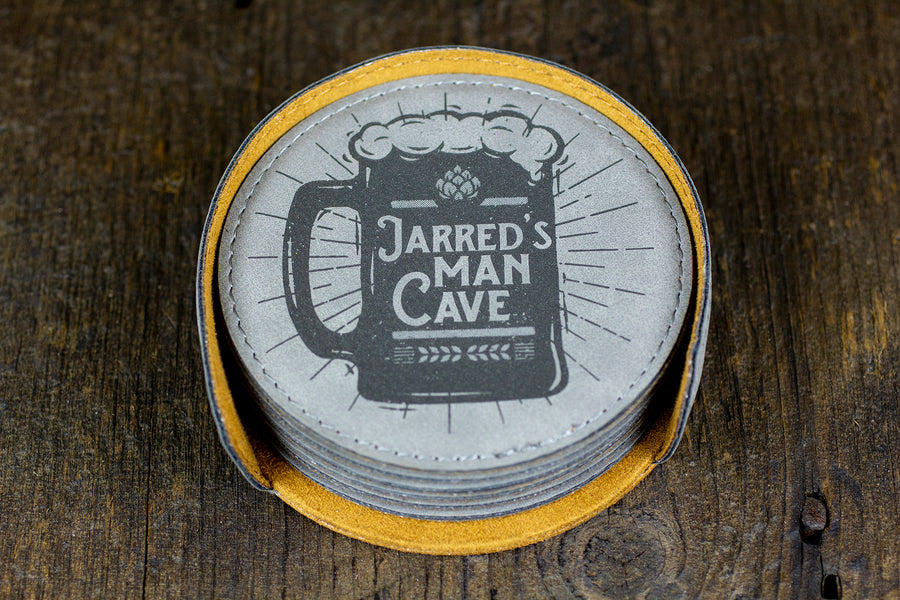 Custom Bar Coasters - Jarred Design