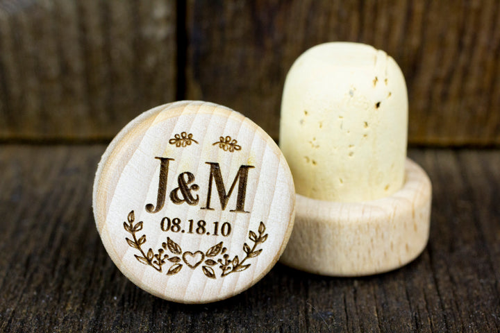 Personalized Wine Stoppers - J&M Design