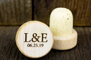 Personalized Wine Stoppers - L&E Design