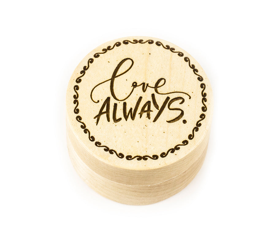 Wood Ring Box - Love Always