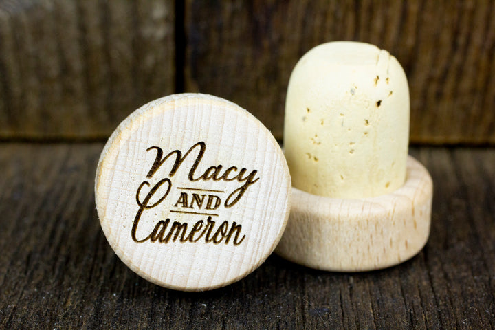 Personalized Wine Stoppers - Cameron Design