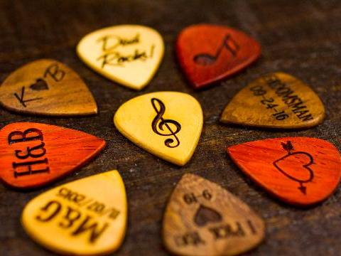 Personalized Wooden Guitar Picks