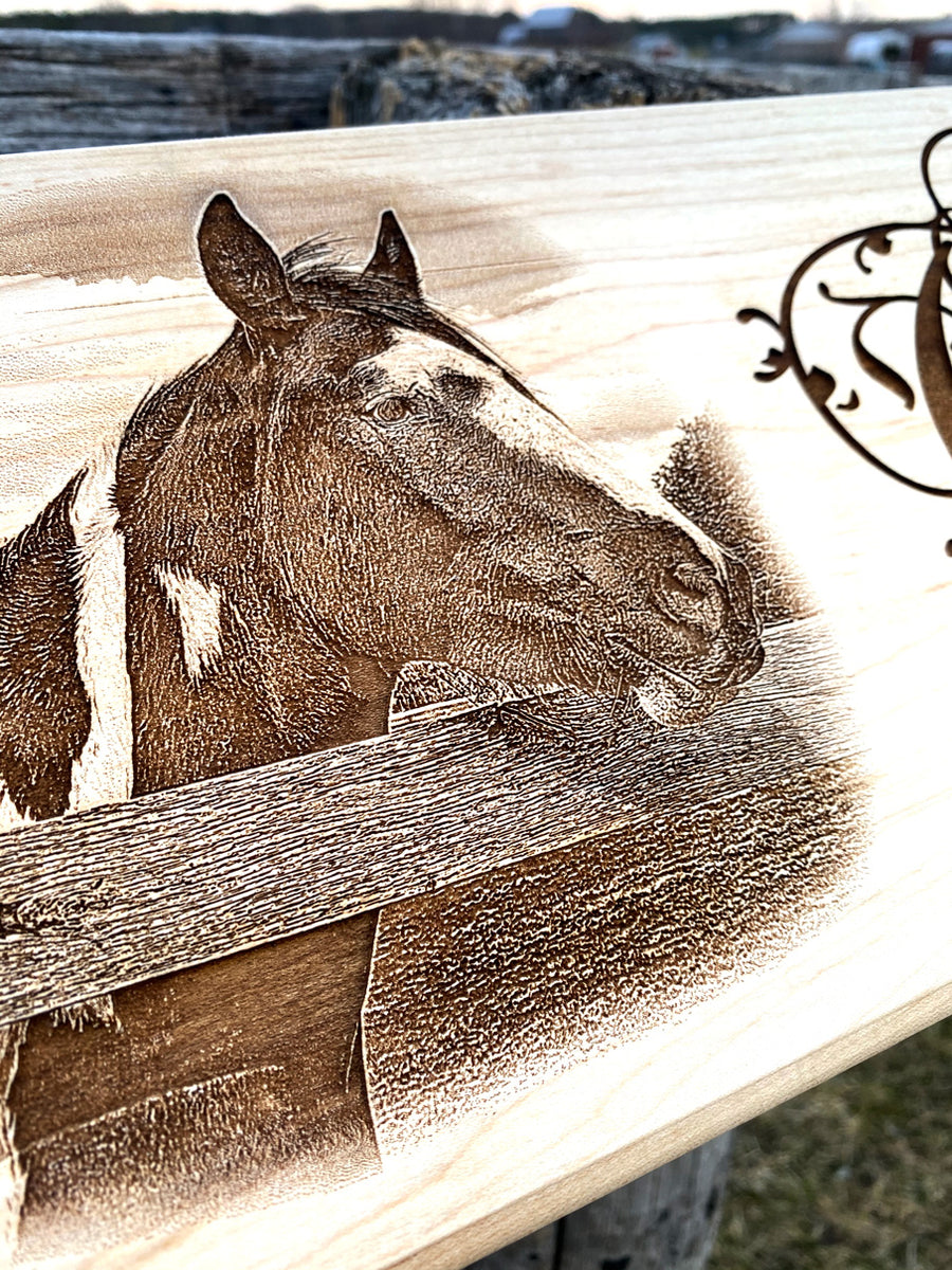 Custom Horse Stable Sign