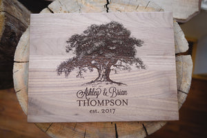 Walnut, Family Tree Cutting Board