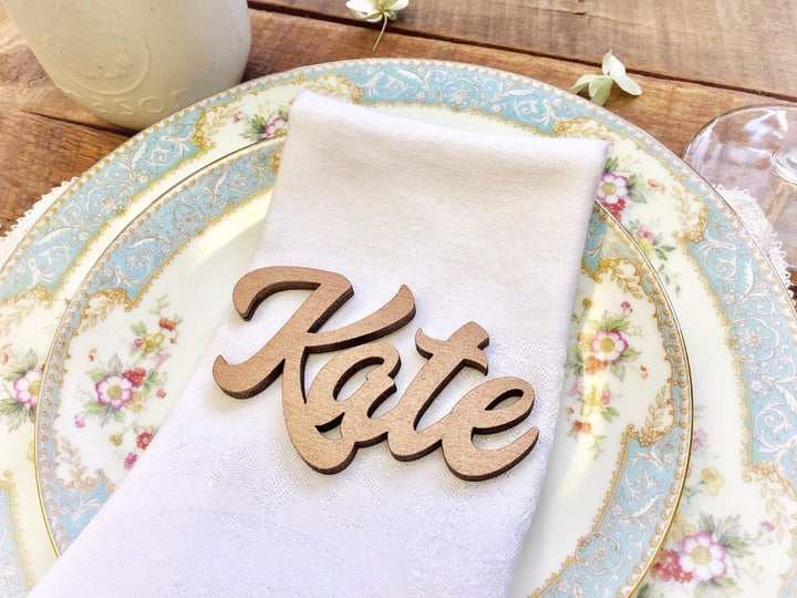 Laser Cut Name Place Setting