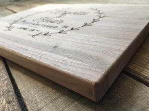 Personalized Walnut Cutting Board