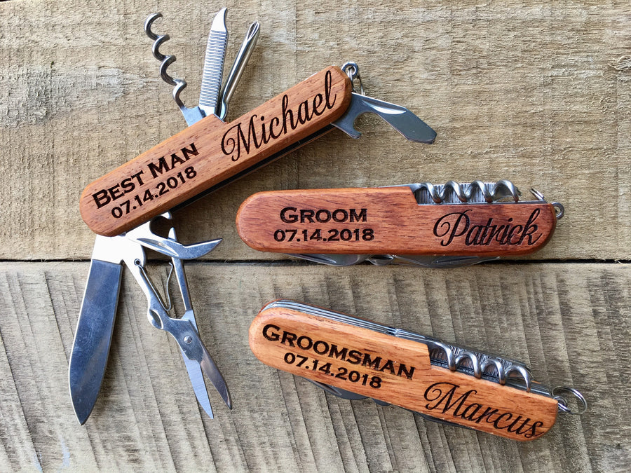 Personalized Groomsmen Pocket Knife