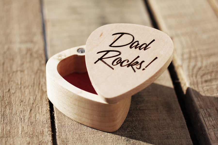 Personalized Guitar Pick Box