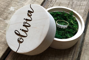Wood Ring Box - Olivia Design